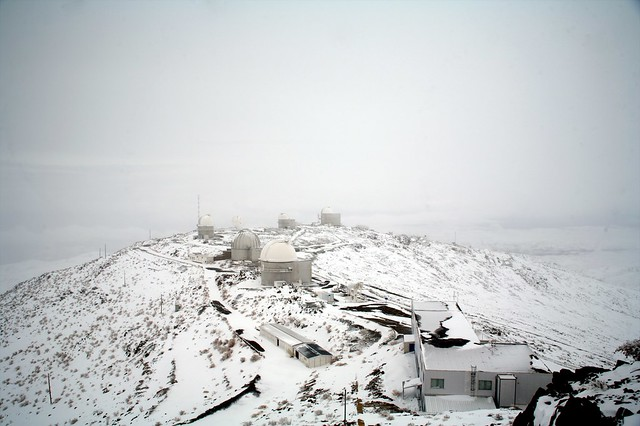 La Silla Observatory under snow
