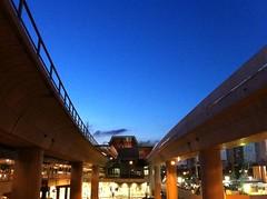 Jurong East MRT Station at dusk