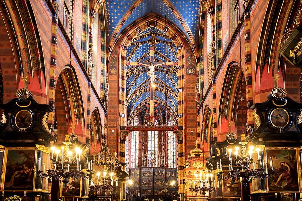 Intérieur de l'église Notre Dame de Cracovie (Kosciol Mariacki) - Fot. Mariusz Cieszewski