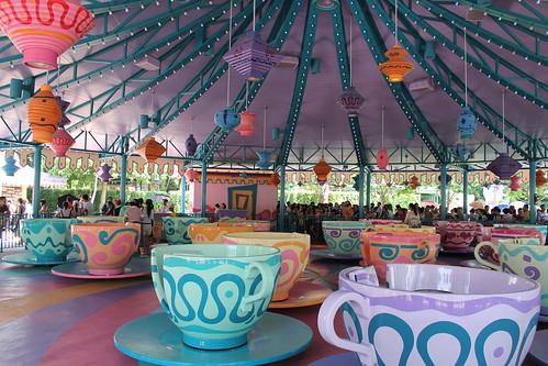 Mad Hatter Tea Cups at Hong Kong Disneyland