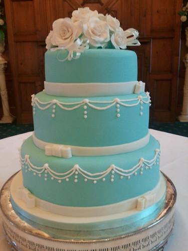 3 tier tiffany blue wedding cake with sugar roses 3 tier t flickr. Black Bedroom Furniture Sets. Home Design Ideas