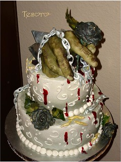 zombie bridal shower cake | by tesorocookies