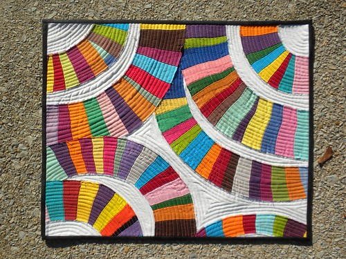 rainbows mini scrap quilt | by lari smiles