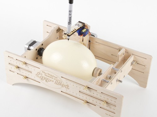 ostrich egg in ostrich eggbot | by 1lenore