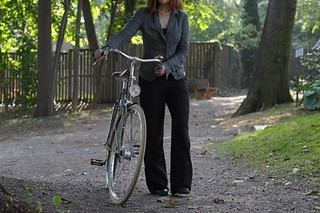 Linen Suit + Bike | by Lovely Bicycle!