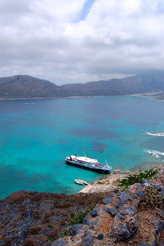 Scene from the fortress on top of Gramvousa off the coast of the Greek island of Crete | by Peace Correspondent