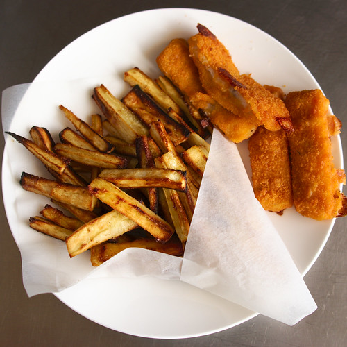 Fish and chips de panais fish and parnip chips cuisine for Gluten free fish and chips