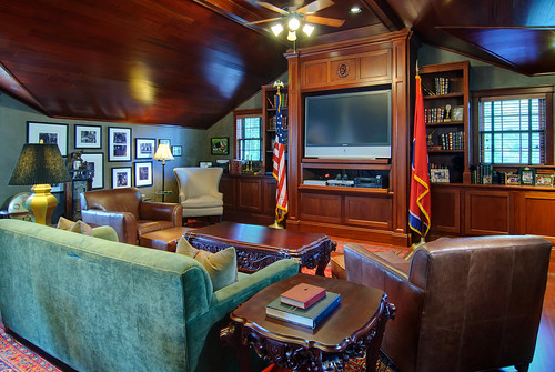 Man Cave East Delray : Custom man cave against the grain woodworks