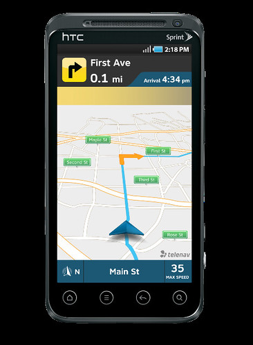 New TeleNav GPS Navigator 7.1 Navigation Screen | by telenavpr