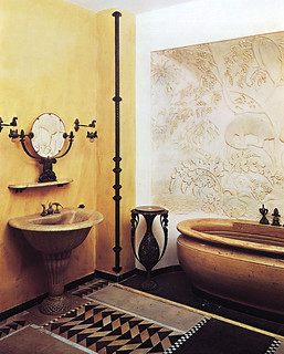 Art Deco bathroom for Jeanne Lanvin (1920–22) | by shanghai Іily