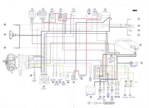 200001 Ducati Monster 900 ie Electrical    wiring       Diagram