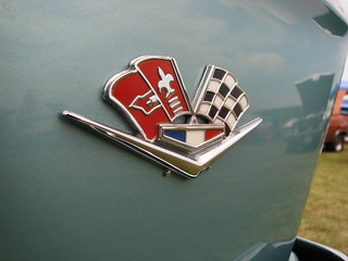 1962 Chevrolet Impala convertible fender badge | by geognerd