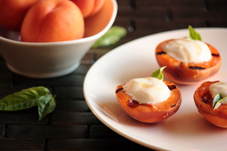 Grilled Apricots with Honey Greek Yogurt | by pastryaffair