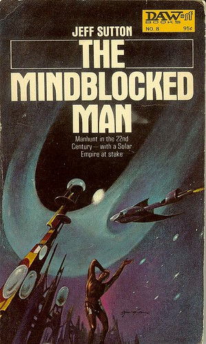 The Mindblocked Man - Jeff Sutton - cover artist Jack Gaughan