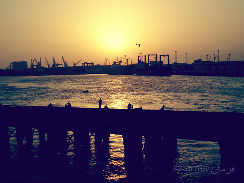 A beautiful sunset at Port Grand, Karachi | by Farmansha