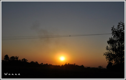 Sunset taken from the car, nearby Naypyidaw | by Wunna Phyoe