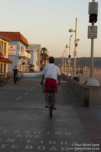 A Lifeguard cycles home from Hermosa Beach, Los Angeles, California | by NativePaul