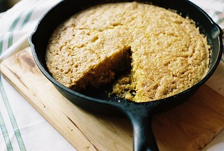 skillet cornbread with honey butter | by yossy arefi
