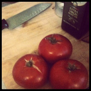 Tomatoes from my uncle's garden for dinner | by Erika Hall