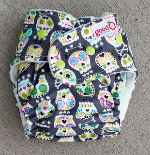 Las Calaveras One-Size Fitted Diaper | by thegoodmama.com