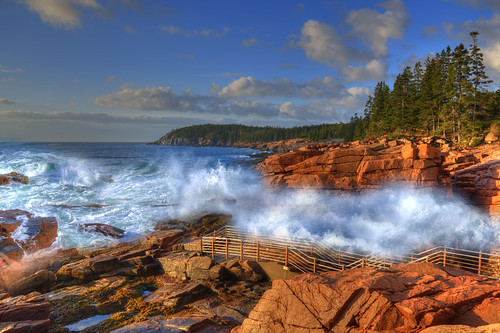 Thunder Hole in Morning Light [EXPLORE] | by Moniza*