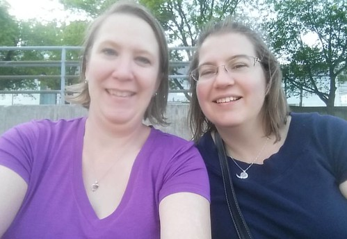Colleen and I met for the first time tonight in Omaha. Blog friends for 10 years. Spending time together has been awesome!
