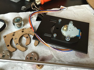 Laser cut stepper motor mount assembly