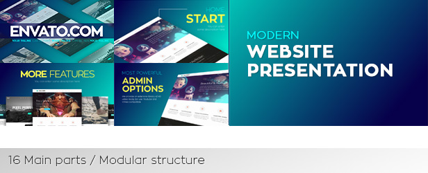 Modern Website Presentation