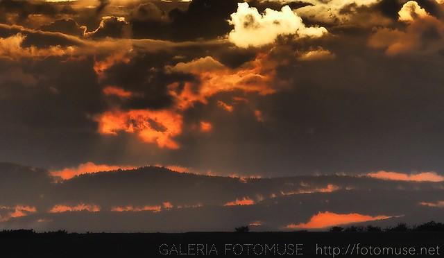 Clouds in fire