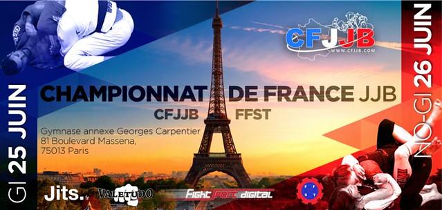 Affiche Championnat de France JJB CFJJB