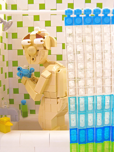 Grandpa! You better not be using my loofah again! | by Legohaulic