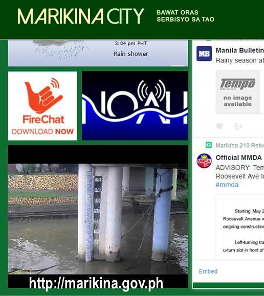 Marikina live view of Marikina River Water Level Gauge CCTV Homepage