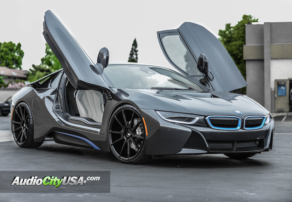 2016 Bmw I8 22 Savini Wheels Bm 12 Matte Black Audiocityusa