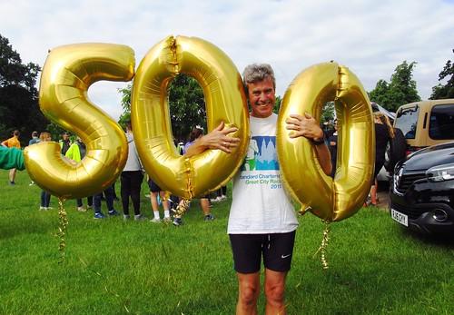 Richard Fletcher celebrates his 500th parkrun!