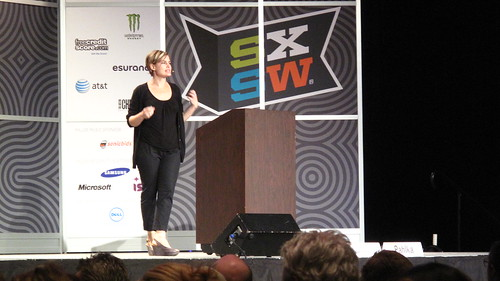 Jennifer Pahlka talking Code for America at a SXSW keynote | by joemurphy