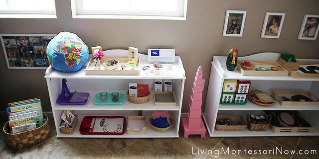 Montessori Shelves for a 2½ Year Old