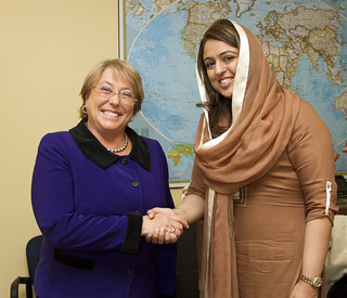 UN Women Executive Director Michelle Bachelet meets with Fiza Batool Gillani, Goodwill Ambassador on Women's Empowerment and Head of the Pakistan Delegation to CSW | by UN Women Gallery
