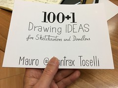 "Inspecting the ""100+1 Drawing Ideas"" final proof print"