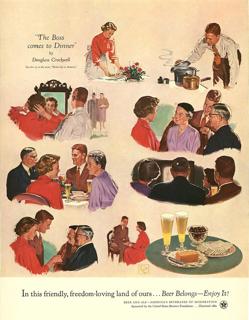 093. The Boss Comes To Dinner by Douglass Crockwell, 1954