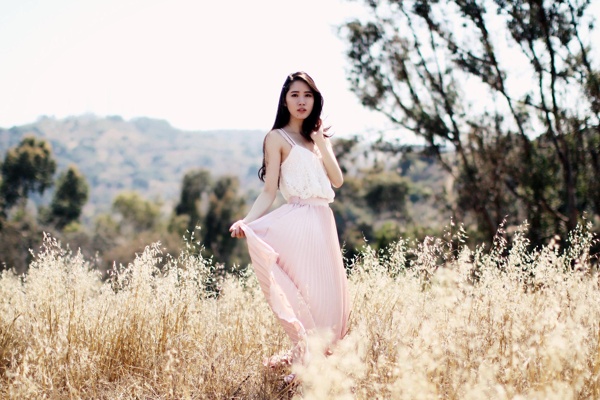 9780-pink-maxi-skirt-korean-fashion