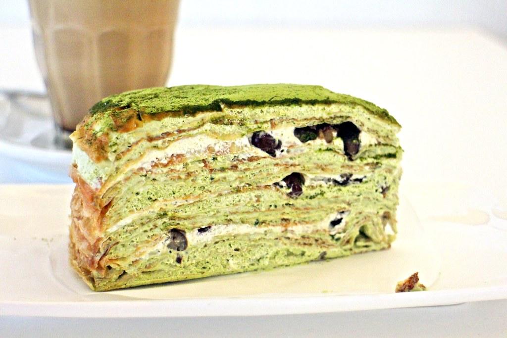 Matcha Johor Bahru: Matcha Latte Mille Crepe