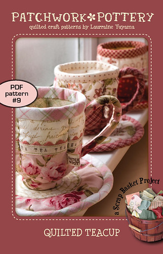 Quilted Teacup - PDF pattern 9 | by PatchworkPottery