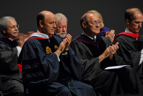 President Carlos Campo and faculty giving applauds | by Regent University School of Law