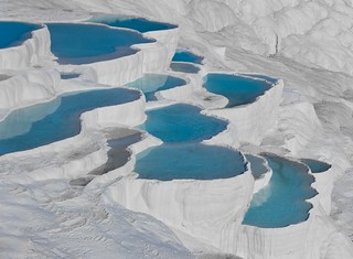 Almost like another planet... Pamukkale blues in Turkey (UNESCO world heritage site) - Can you help me to get 1100 faves? ;-) | by Maria_Globetrotter