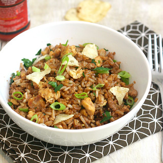 Turkey Fried Rice with Crushed Potato Chips | by Tracey's Culinary Adventures