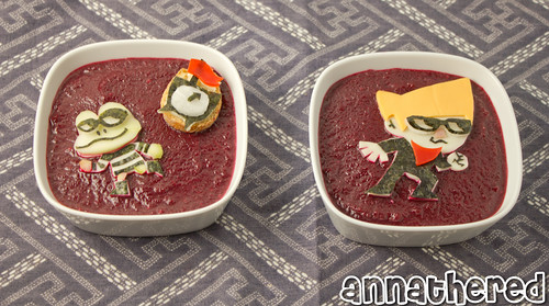 Non-bento #46: Beat Sneak Bandit beet soup | by AnnaTheRed