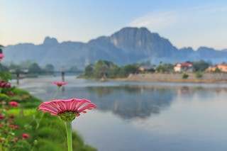 Vang Vieng Laos in Early Morning Light [Explore #2, THANK YOU] | by Maria_Globetrotter