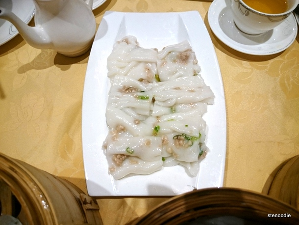 Steamed Rice Rolls with Minced Pork