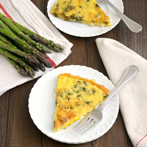 Asparagus and Gruyère Frittata | by Tracey's Culinary Adventures