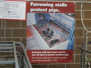 Iowa State Fair - Paul R Knapp Animal Learning Center - Gestation Crates Promotion Poster | by fooddemocracynow
